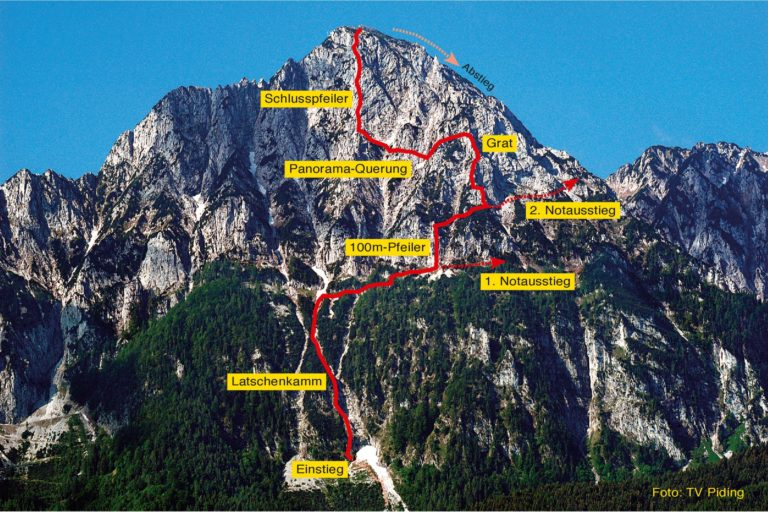 Pidinger Klettersteig auf den Hochstaufen 2021 noch nicht geöffnet